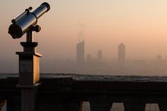 Levé du Soleil sur Lyon (Claude Schildknecht) Tags: europe france incity levé lyon matin morning oxygène places soleil sunrise tour tower