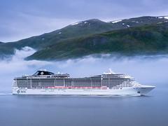 MSC Splendida-001-20160626- FLICKR (Knut Erik Håheim) Tags: cruise msc cruiseship mist fog maritime vessel ship aalesund