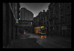 Safe Journey (Kev Walker ¦ 8 Million Views..Thank You) Tags: architecture canon1100d canon1855mm citycentre england hdr kevinwalker lancashire manchester northwest panorama panoramic photoborder piccadillystation sky skyline transport bus rain