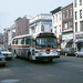 US NJ Hoboken Red Apple Bus Co  GMC Fishbowl #104 - Washington St  @ Newark St ,