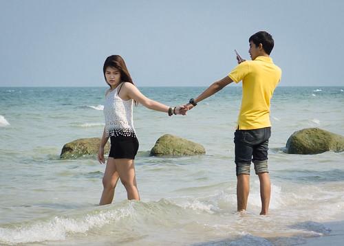 On the beach in Hua Hin