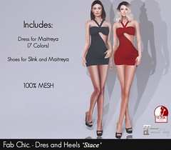 Fab Chic. - Dress And Heels 'Stace' (Patrick Hewer (Moccino And SomeStyles Owner)) Tags: fabchic moccino dress shoe 100l heels
