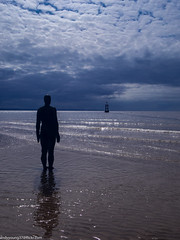 Formby beech & Gormley statues (41 of 71) (andyyoung37) Tags: sea silhouette reflections anotherplace gormleystatue crosbybeech