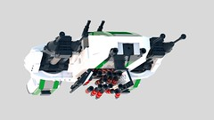 J-06 Viridis Starfighter (nodnarb162) Tags: digital lego render space scifi spaceship moc ldd starfighter