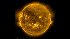 M5.6 flare in AIA 171 24 August 2015 (twinklespinalot) Tags: sun solar flare solardynamicsobservatory aia171