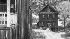 Lodge Hall, Silver City Idaho (joeqc) Tags: city blackandwhite abandoned monochrome canon silver lodge masonic forgotten 6d delamar 1881 owyhee greytones ef24105l ef24105f4l canoneos6d oncewashome