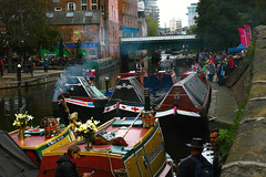 Nottingham Canal festival. (Esmik D'Aguiar) Tags: nottingham bridge people colour water photography boat canal cityscape bright side craft sigma quay canoe narrow barge crowds pleasure merrill dp3 smke