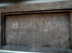Assyrian wall panel from Nimrud (ca. 860 B.C.) (heffelumpen9) Tags: sculpture relief britishmuseum assyria nimrud assyrianart neoassyrian kalhu ashurnasirpalii ancientneareast