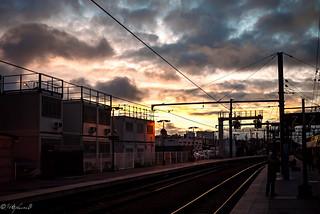 Nuages en gare
