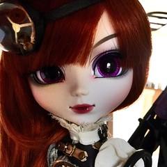 caricature foto (Mina Mimosa) Tags: eclipse eyes doll dolls purple aurora groove pullip steampunk eyechips