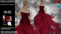 Nina Gown red (Zed Sensations) Tags: christmas eve wedding fashion project high long venus slim dress mesh vampire formal valentine cocktail fairy fantasy ballroom gown gypsy sensations isis couture freya belleza zed physique hourglass tmp roleplay fitted maitreya slink pulpy ebody evemesh