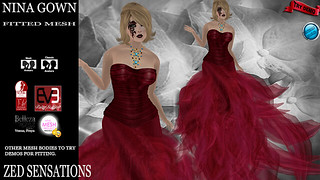 Nina Gown red