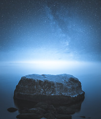Night (unijaz) Tags: ocean longexposure autumn light sea sky water night suomi finland dark stars landscape helsinki outdoor calm serene waterscape milkyway vuosaari
