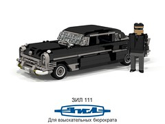 ZiL-111 Limousine (1958) (lego911) Tags: auto birthday classic car sedan model lego russia render communist 1950s 1958 government 111 zil saloon luxury challenge limousine v8 8th clipper cad packard lugnuts ussr 96 povray moc 66th ldd miniland zil111 lego911 behindtheironcurtain happycrazyeighthbirthdaylugnuts