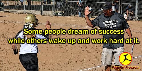 Softball Quote Success Dream