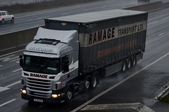 Ramage Transport/ Ex Stobart PL10 KVM (H5724 Heather Jane) A1 Washington Services 3/12/15 (CraigPatrick24) Tags: road truck washington cab transport lorry delivery vehicle a1 trailer scania logistics stobart eddiestobart curtainsider ramagetransport heatherjane stobartgroup scaniar440 exstobart washingtonservices h5724 pl10kvm