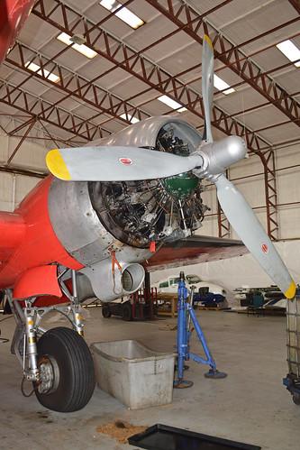 Engine detail on Douglas C-47B Dakota 'G-ANAF'
