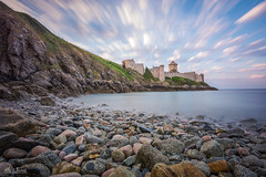 Fort la-Latte beach (A.S photographie) Tags: ocean longexposure sea summer cliff cloud seascape castle beach rock landscape nikon wind 2015 nikonfrance nikonpassion