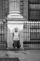 Untitled (laskaproject) Tags: life street old city november sea urban woman texture architecture buildings havana cuba communist caribbean habana