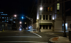 Trenton street corner at night (Blake Bolinger) Tags: newjersey downtown nj mercercounty trenton