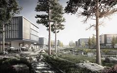 Проект кампуса для Huawei в Китае от Ennead Architects