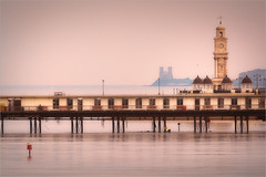 Herne Bay Pier and Reculver (Roger Nolan LRPS) Tags: longexposure sea pier kent clocktower groyne hernebay reculver kentcoast