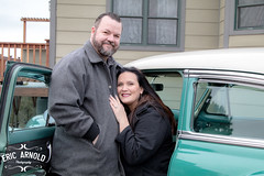 Just Married (Eric Arnold Photography) Tags: wedding ceremony justmarried married couple guy girl man woman chevy chevrolet belair 1954 54 portrait