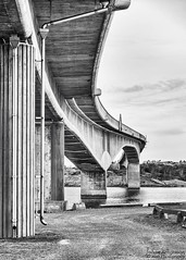 The bridge (johanbe) Tags: bridge instöbron marstrand sweden bro vatten water blackandwhite svartvitt building architecture