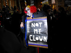 Anti-Trump protest at the US Embassy, London (Alan Denney) Tags: trump protest grosvenorsquare mayfair london