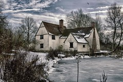 Willy Lott's Cottage, Flatford, East Bergholt. Made famous by John Constable's paintings. (davebyford01) Tags: johnconstable suffolk flatford scenery winter ice snow willylott river architecture davebyfordphotographycouk eastbergholt england uk landscape lake house constable painter