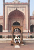 Jama Mosque (peterkelly) Tags: digital canon 6d india asia delhi jamamasjid mosque arch muslim islaam man sitting architecture old ancient