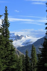 Mountaintop (Patricia Henschen) Tags: banff banffnationalpark nationalpark icefieldsparkway park parks parcs parkscanada peyto lake bowsummit peytolake mistayariver glacier creek rockflour mountains mountain canadian canadianrockies rockies rocky rockymountains clouds