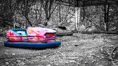 Waiting (#Weybridge Photographer) Tags: chernobyl chornobyl pripyat ukraine nuclear disaster exclusion zone radiation reactor urban decay decaying abandoned discarded adobe lightroom canon eos dslr slr 40d bumper dodgem car cars fair fairground