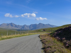 No mercy for hurried car drivers (RIch-ART In PIXELS) Tags: isleofskye scotland cuillins landscape leicadlux6 dlux6 leica unitedkingdom schotland mountains mountainridge road carbostmore mountainside