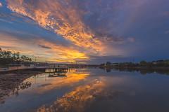 The Sunrise (S♡C) Tags: sunrise dawn river australia parramattariver riverside reflections orange clouds