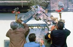 Gimigliano (CZ), 1977, Pellegrinaggio e festa per la Madonna di Porto. (Fiore S. Barbato) Tags: italy calabria catanzaro gimigliano madonna porto festa pellegrinaggio madonnadiporto fiume corace santuario costantinopoli