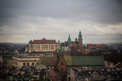 """Wawel Hill (Ania Mendrek) Tags: wawelhill krakow poland cracow christmas winter foggy holidays visiting xmas city history architecture old town """"old town"""" """"main square"""" medieval square townhouses """"cloth hall"""" sukiennice """"town hall tower"""" tower monuments mariacki church """"mariacki church"""" """"st marys basilica"""" basilica castle hill wawel museum skyline roofs"""