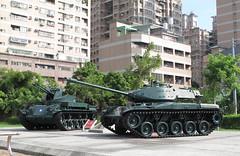 M42 Duster & M41A3 Walker Bulldog (rvandermaar) Tags: tank tanks taiwan republicofchina republic china roc m42 duster m41a3 walker bulldog military