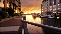Battery Wharf (BC3.photography) Tags: boats sunrise boston morning water harbor reflection windows vacation travel canon dslr fire