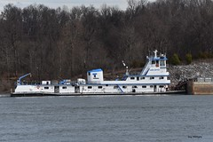 MV Gabe Gattle_4480 (Porch Dog) Tags: 2017 garywhittington kentucky nikond750 fx nikon200500mm outandabout january winter towboat barges tennesseeriver water