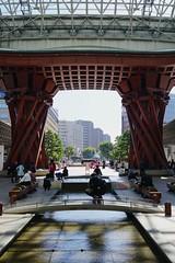 Kanazawa Station (Chris Harré) Tags: tsuzumimon a6300 sonya6300 24mm prime sel24f18zeiss sel24f18z tsuzumi alpha6300 sonyalpha6300 japan zeiss honshu kanazawastation motenashiwelcomedome kanazawa sonye24mmf18za