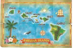 Hawaiian Islands Playing Card (booboo_babies) Tags: hawaiian hawaii map tropical playingcard hawaiianislands island