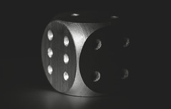 metal cube [Explored 14 March 2017] (David Go ~) Tags: macromondays metal cube würfel spiel monochrome blackandwhite shadow light strobo germany canoneos6d tamron90mm madeofmetal wow explored explore