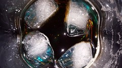 Blue Ice (The Real Maverick) Tags: rumandcoke ice icecubes cocktail drink closeup samsunggalaxyedge6 cocacola