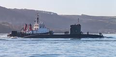 HMS Torbay 22nd December 2016 #8 (JDurston2009) Tags: hmstorbay plymouthsound s90 sdfaithful ssn sercomarineservices tutt trafalgarclass attacksubmarine plymouth royalnavy sercodenholm submarine tug warship