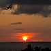 Sunset and a plane, Varadero, Cuba.