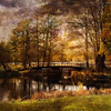 With a sense of autumn (BirgittaSjostedt) Tags: bridge autumn texture water river painting landscape paint outdoor scene serene ie innamoramento memoriesbook magicunicornverybest birgittasjostedt