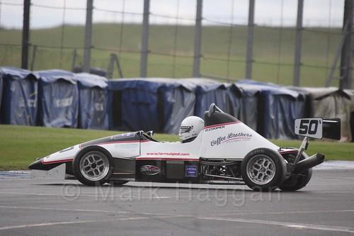 David Cooper spins in Formula Jedi at Donington, September 2015