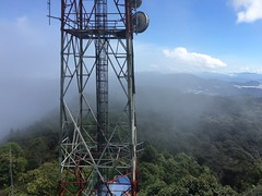 Day one, clouds roll in on Gunung Brinchang