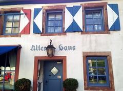 """Restaurant """"Altes Haus"""" (micky the pixel) Tags: door house building window germany deutschland restaurant fenster haus lantern laterne tür fassade saarland saarbrücken alteshaus"""